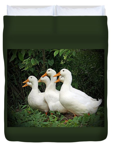All My Ducks In A Row Duvet Cover