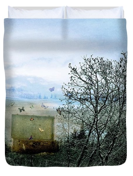 Duvet Cover featuring the digital art All My Precious Secrets by Michele Cornelius