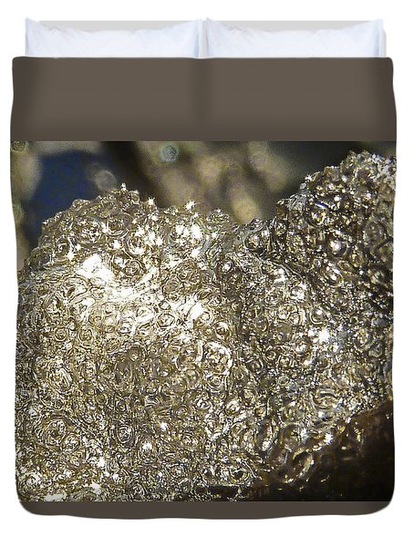 Duvet Cover featuring the photograph All That Glitters Is Definitely Cold by Steve Taylor