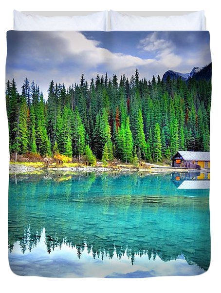 All Things Reflected Duvet Cover by Tara Turner