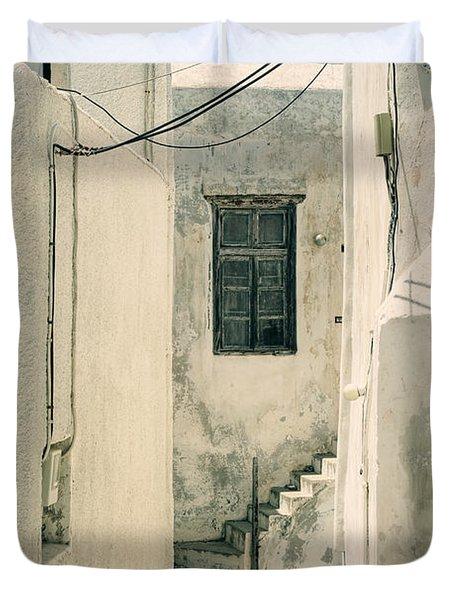 alley in Greece Duvet Cover by Joana Kruse