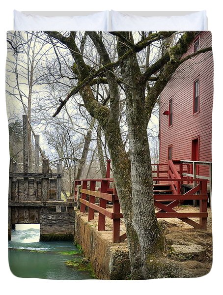 Alley Spring Mill 34 Duvet Cover by Marty Koch