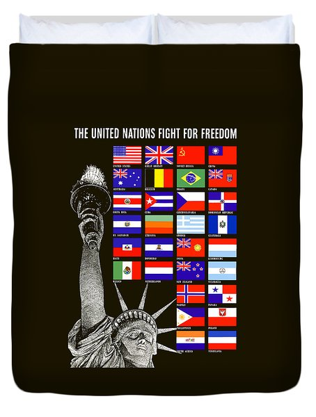 Allied Nations Fight For Freedom Duvet Cover