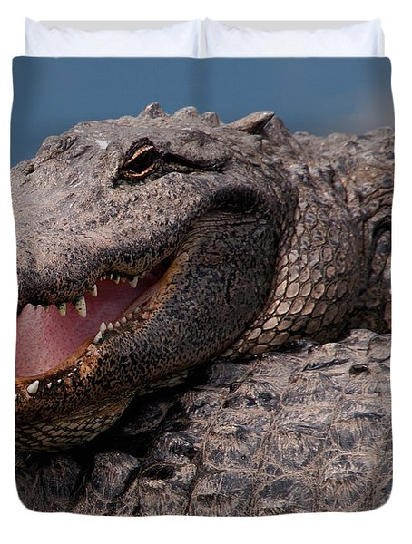 Alligator Smile Duvet Cover