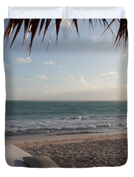 Duvet Cover featuring the photograph Alluring Tropical Beach by Karen Lee Ensley