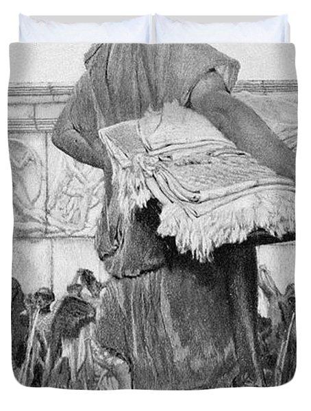 Alma-tadema: A Nymphaeum Duvet Cover