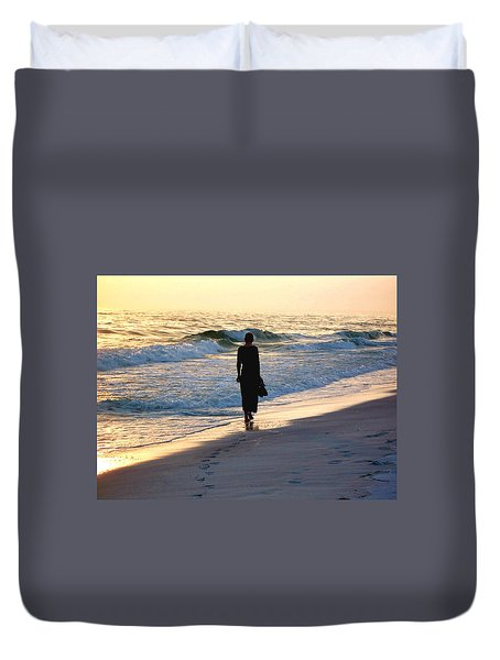 Alone At The Edge Duvet Cover