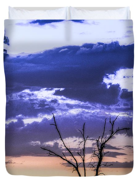 Duvet Cover featuring the photograph Alone by Marta Cavazos-Hernandez