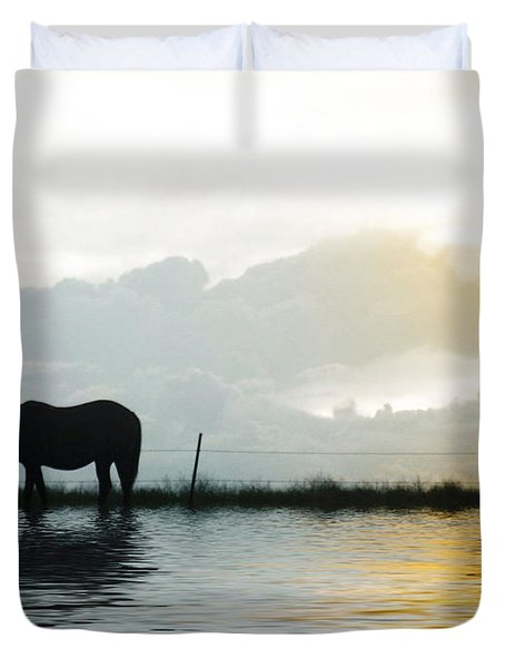 Alone Duvet Cover by Susan Kinney