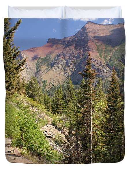 Along St. Mary's Lake Trail Duvet Cover by Marty Koch