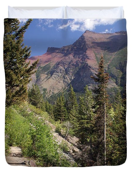 Along The Trail Duvet Cover by Marty Koch
