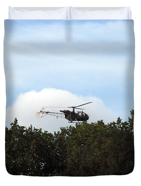 Alouette II Of The Belgian Army Duvet Cover by Luc De Jaeger