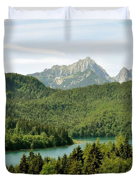 Alps From Bavaria Duvet Cover by Rick Frost