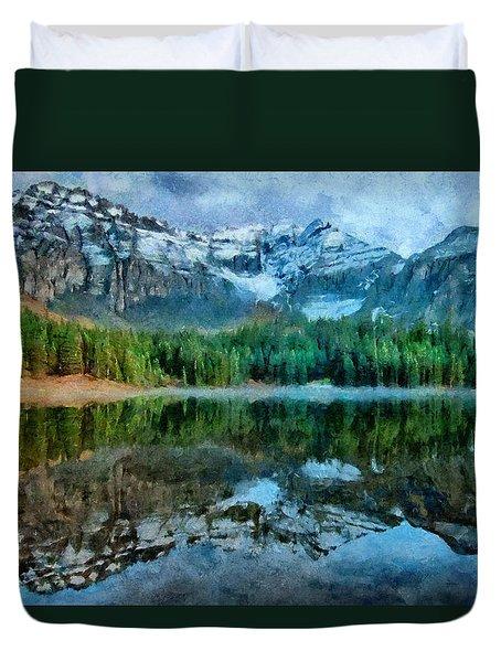 Alta Lakes Reflection Duvet Cover by Jeff Kolker