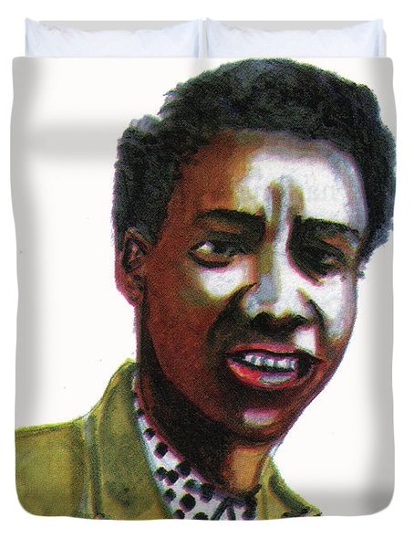 Althea Gibson Duvet Cover by Emmanuel Baliyanga