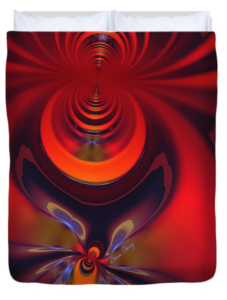 Duvet Cover featuring the digital art Amber Goddess by Diane Clancy