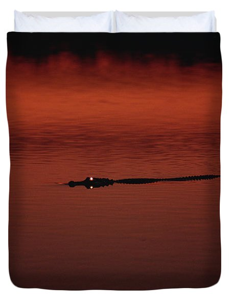 American Alligator Alligator Duvet Cover by Konrad Wothe