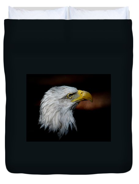 American Bald Eagle Duvet Cover by Steve McKinzie