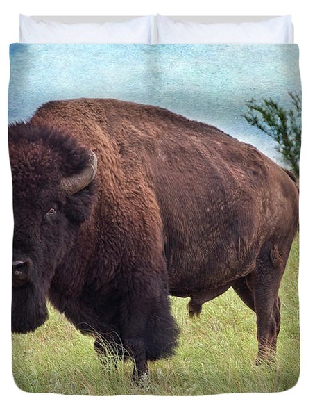 American Bison Duvet Cover by Tamyra Ayles