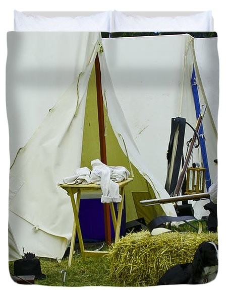 Duvet Cover featuring the photograph American Camp by JT Lewis