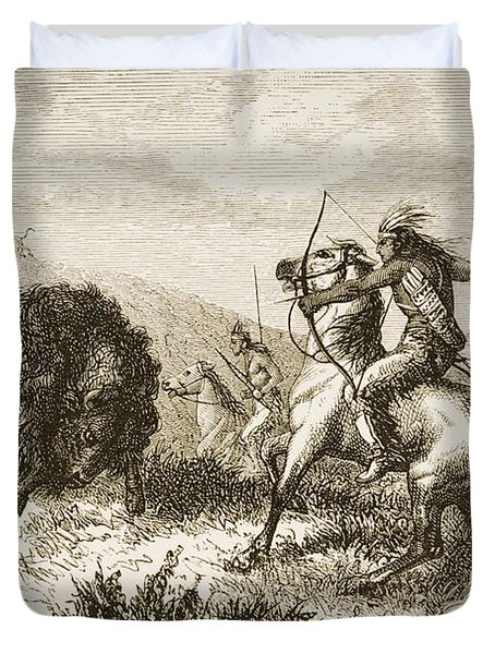 American Indians Buffalo Hunting. From Duvet Cover by Ken Welsh