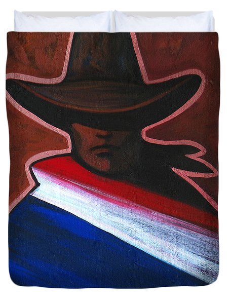 American Rider Duvet Cover by Lance Headlee