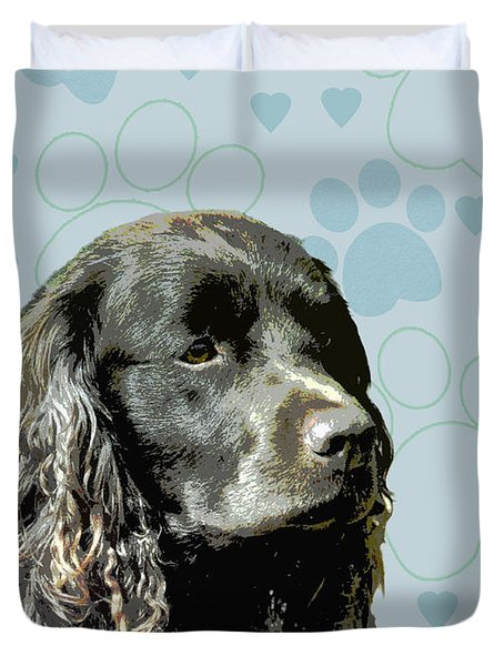 American Water Spaniel Duvet Cover by One Rude Dawg Orcutt