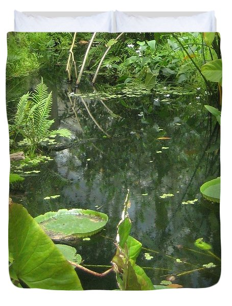 Among The Lily Pads Duvet Cover