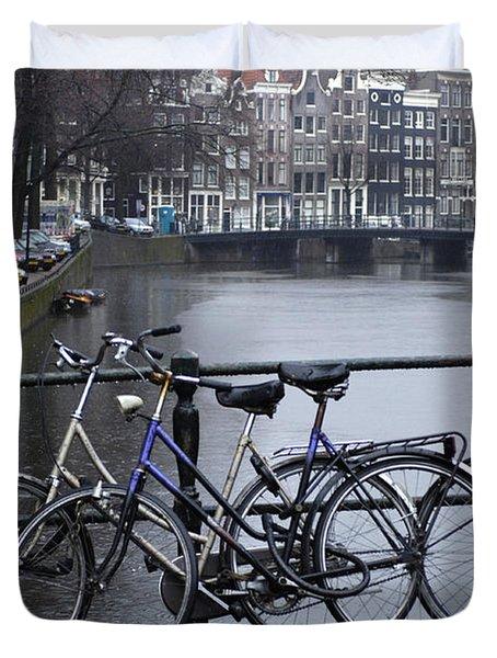 Amsterdam The Netherlands Duvet Cover by Bob Christopher
