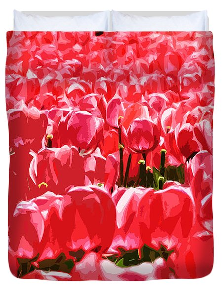 Amsterdam Tulips Duvet Cover by Phill Petrovic
