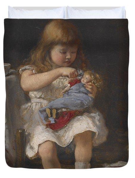 An Anxious Mother Duvet Cover by Percival de Luce