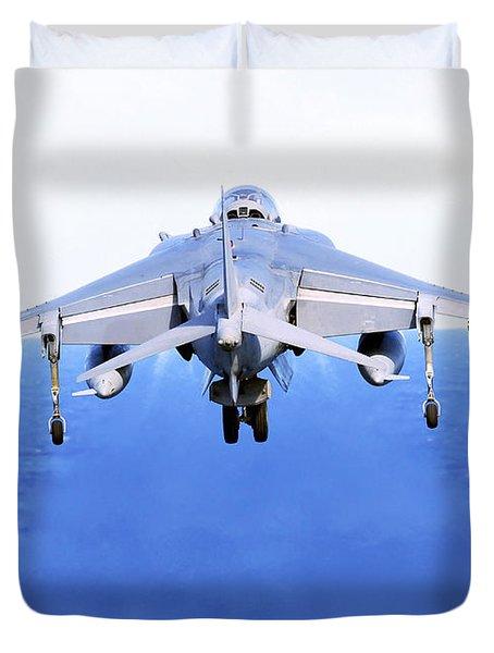 An Av-8b Harrier Jet Launches Duvet Cover by Stocktrek Images
