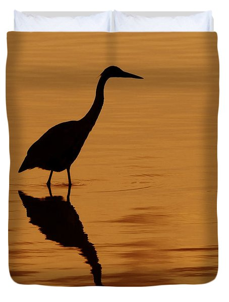 An Early Morning Dip Duvet Cover by Tony Beck