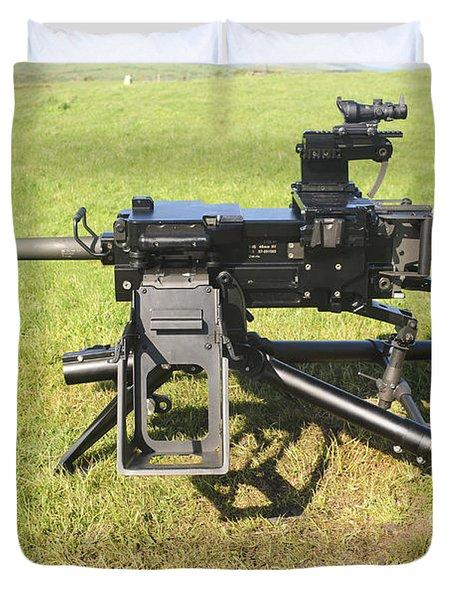 An Mk19 40mm Machine Gun Duvet Cover by Andrew Chittock