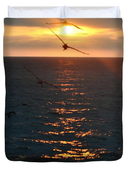 ...and At The End Of The Day... Duvet Cover by Valerie Rosen
