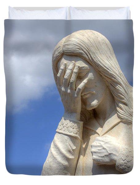 And Jesus Wept IIi Duvet Cover