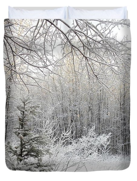 And More Snow Duvet Cover
