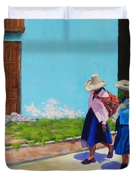 Andean Ladies Duvet Cover