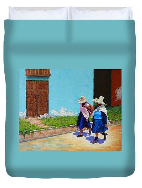 Andean Ladies, Peru Impression Duvet Cover