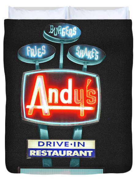 Andy's Drive-in Duvet Cover by Jost Houk