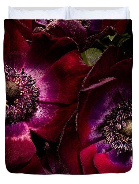 Anemones Duvet Cover by Ann Garrett