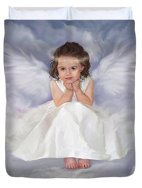 Angel 2 Duvet Cover by Rob Corsetti