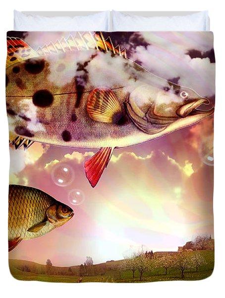 Angel Fish Duvet Cover by Mark Ashkenazi