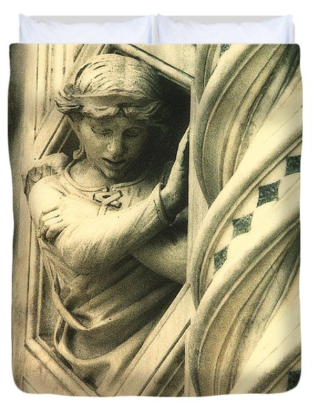 Angel Of The Basilica Duvet Cover