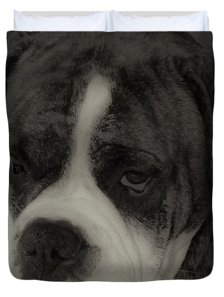 Angelic Boxer Duvet Cover by DigiArt Diaries by Vicky B Fuller