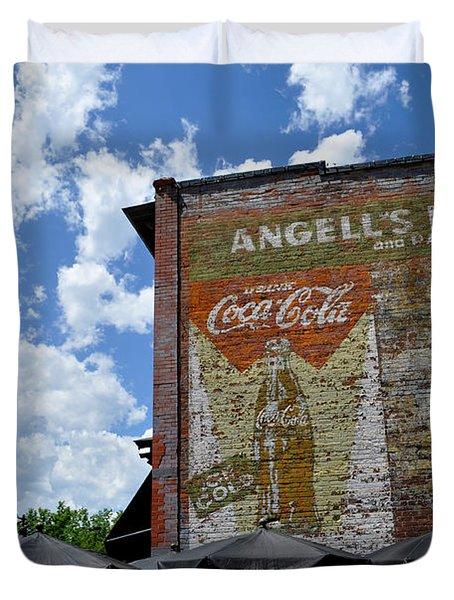 Angell's Deli Duvet Cover by Anjanette Douglas
