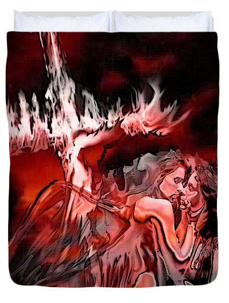 Angels Of Lust Duvet Cover