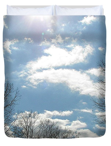 Duvet Cover featuring the photograph Angels On High by Pamela Hyde Wilson