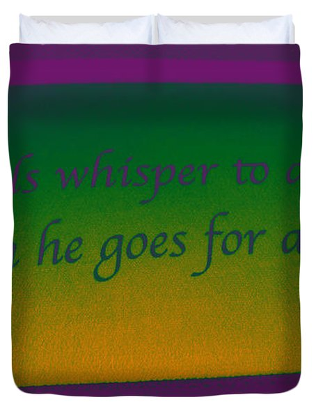 Angels Whisper Duvet Cover by Todd Breitling
