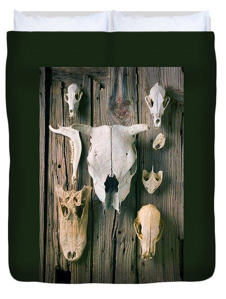 Animal Skulls Duvet Cover by Garry Gay